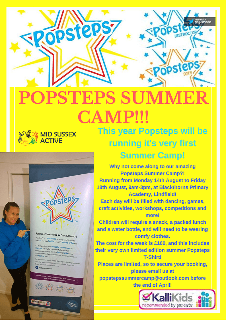 Popsteps Summer Camp